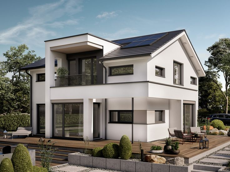 design haus mit satteldach einfamilienhaus concept m 166 bien zenker modernes fertighaus. Black Bedroom Furniture Sets. Home Design Ideas