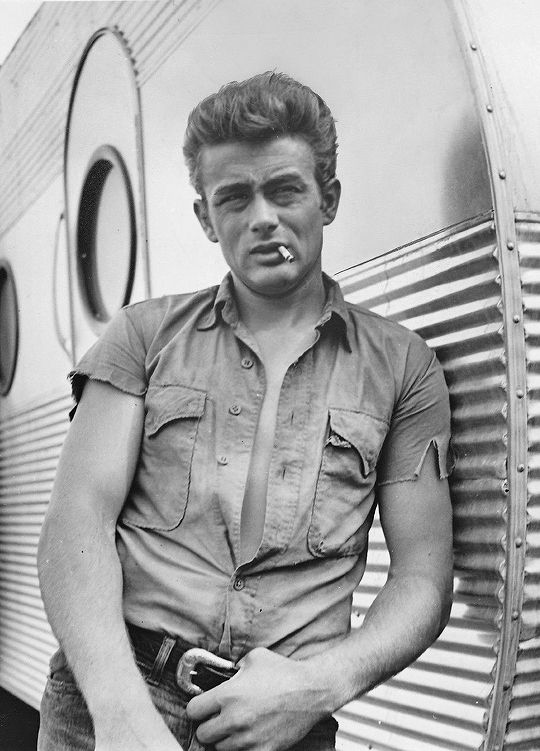 Promotional Photo Of James Dean On The Set Of Giant In