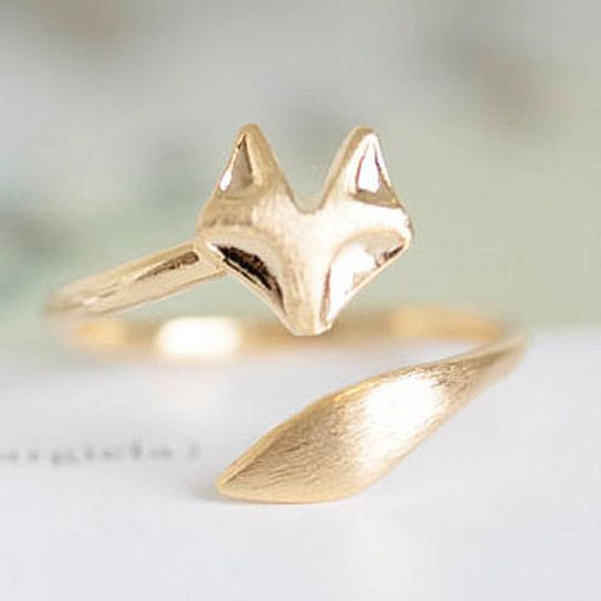 As Seen on the Today Show! The Alchemy Shop Delicate Fox Animal Ring for Elizabeth