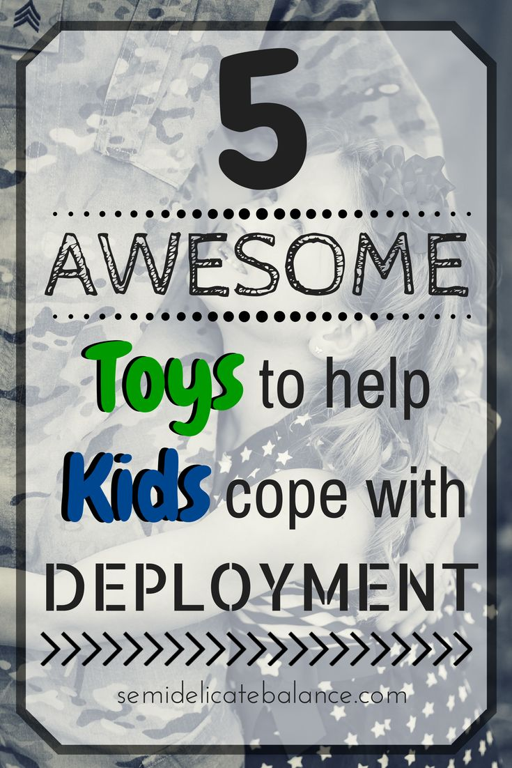 5 Awesome Toys to Help Children Cope with Deployment, great for military families