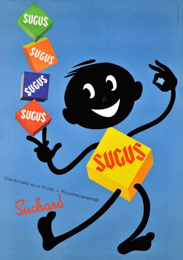 Sugus de Suchard, Caramels aux fruits, Fruchtcaramel, 1964