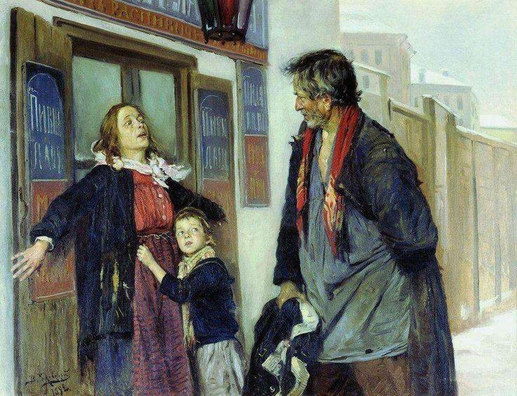 Не пущу!. 1892 В.Е.Маковский