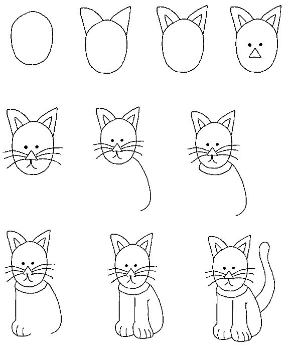 154 best Drawing tutorials : cats and dogs images on Pinterest