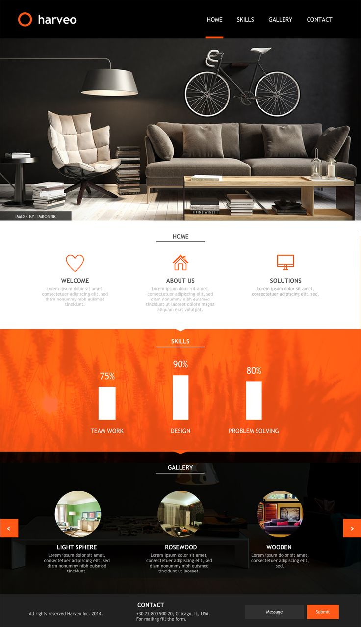 Harveo - Free PSD Template