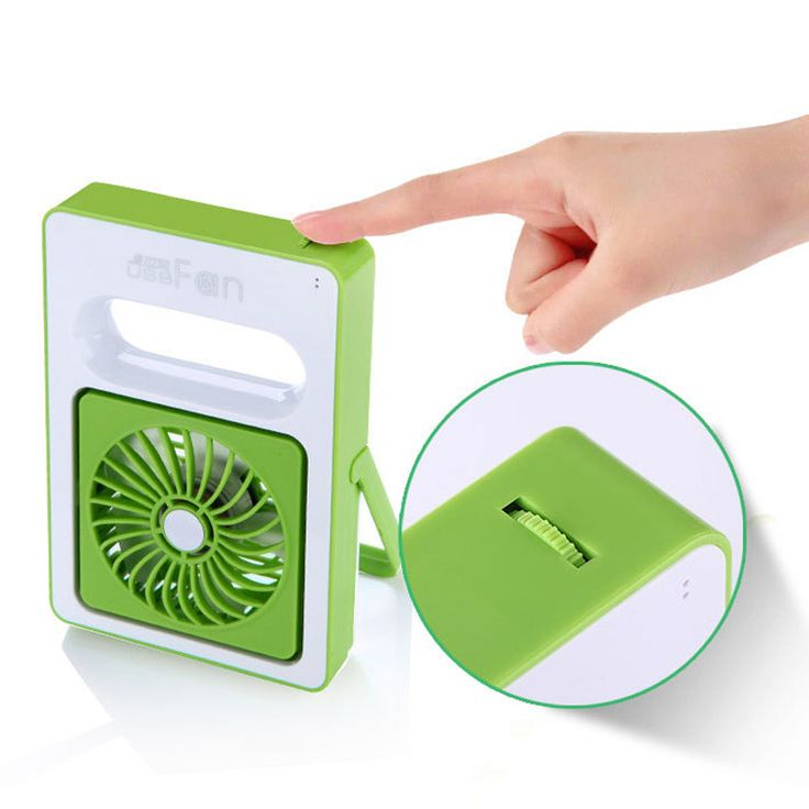 Quality Rechargeable USB Fan Mini Desktop Air Conditioner Summer Portable Handheld Fan Air Condition 2000amh 180 Angle Big Wind