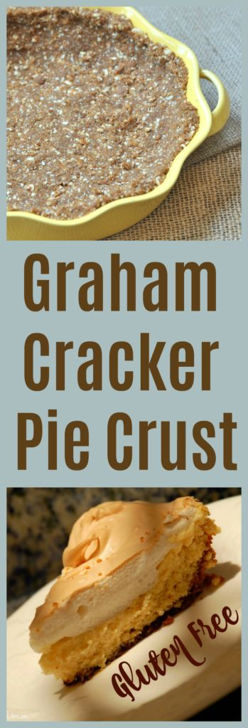 Whether you're baking a key lime pie, pumpkin cheesecake or pumpkin pie, this easy gluten free graham pie cracker crust recipe will perfect your pie!
