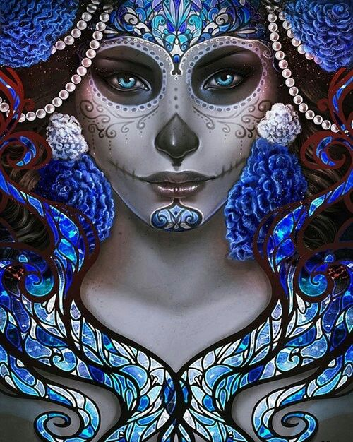 Beautiful sugar skulls both day of the dead real and by design pinterest beautiful - Sugar skull images pinterest ...