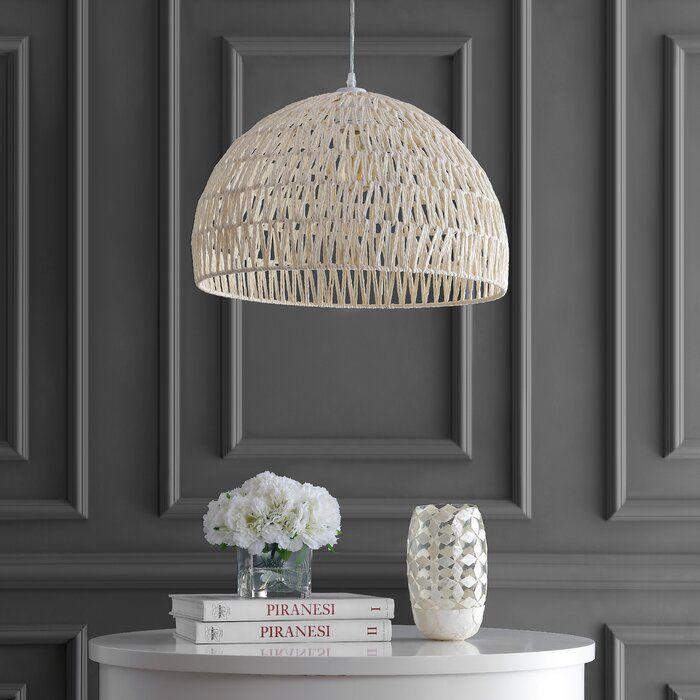 Emerico 1 Light Single Dome Pendant Ceiling Fixtures Cool Floor Lamps Boho Lighting