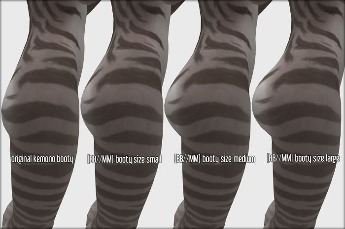 [BB//MM] Kemono Booty Butt - Works with all appliers + Kemono HUD