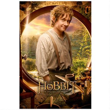 The Hobbit: An Unexpected Journey Bilbo Baggins Close Up Poster