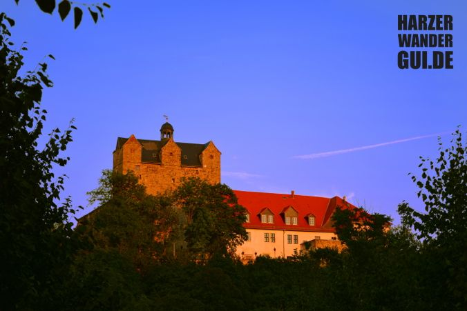 #Schloss #Ballenstedt #Harz #Sonnenuntergang #Dämmerung #Abend #Harzbilder