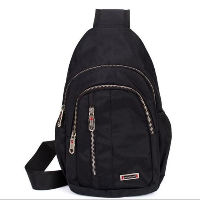 Dual Functional One Strap Mochilas Women Men Single Strap Backpack chest pack male female small canvas bag