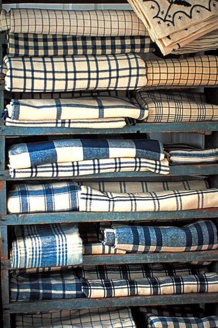 Blue White early textiles