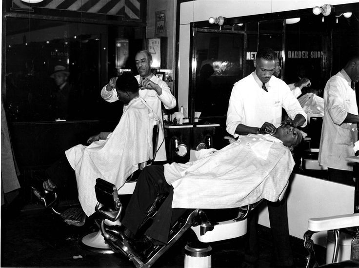Image result for black man barber shop history