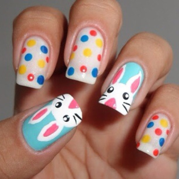 Easter Bunny Nail Art: 129 Best Easter Nails Images On Pinterest