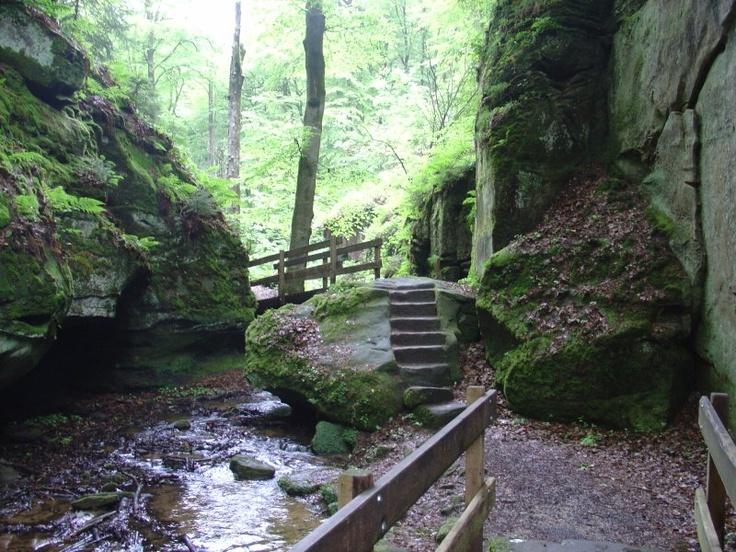 Luxemburg Camping bij Echternach,ook het gebied Klein Zwitserland bezocht.