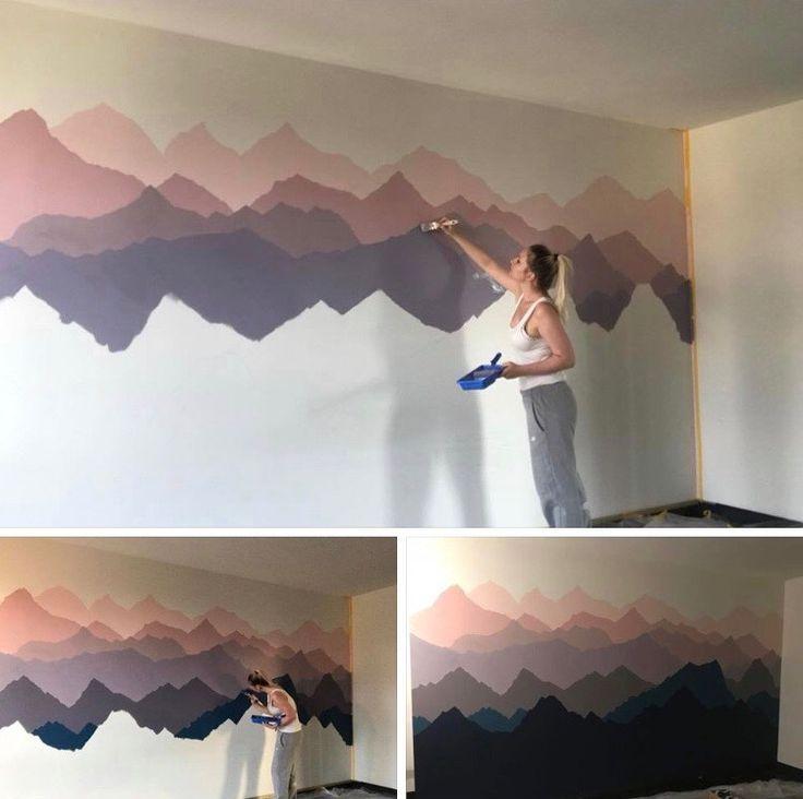 Abstract hombre mountain art wall