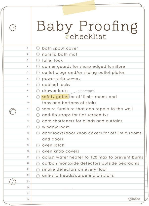 Is your baby about to start crawling? Time to baby-proof the home: | 23 Incredibly Helpful Charts For New Parents