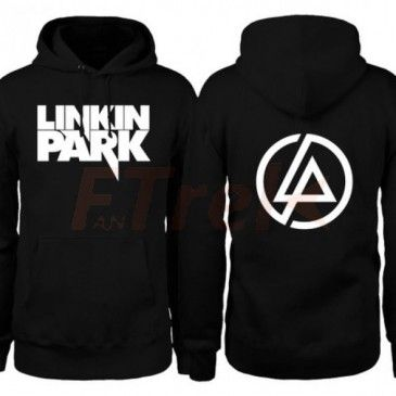 Linkin Park Logo and LP Circle On Back Hoodie
