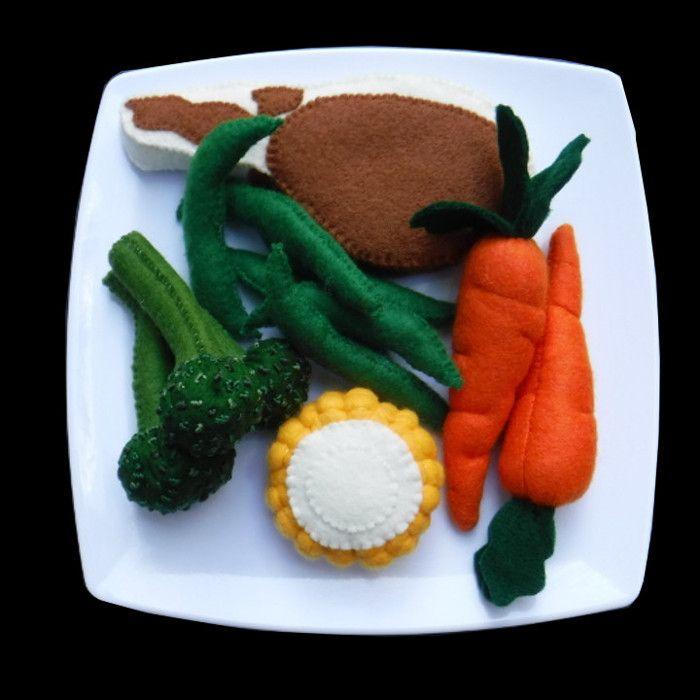Felt food chops and veggies