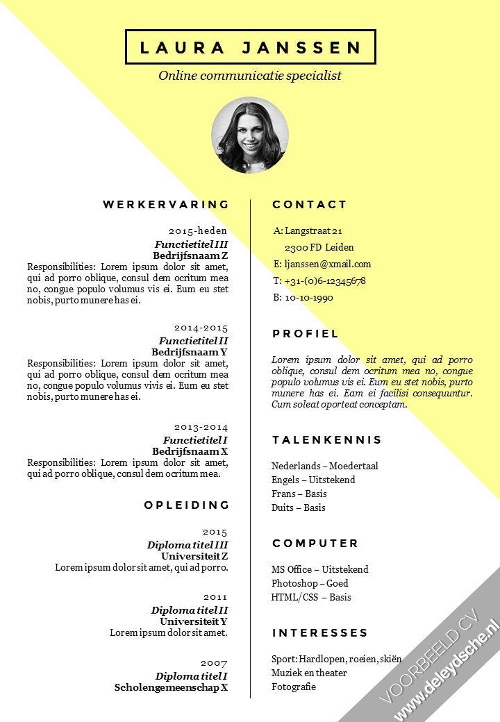 Best Curriculum Vitae Images On   Resume Design Cv