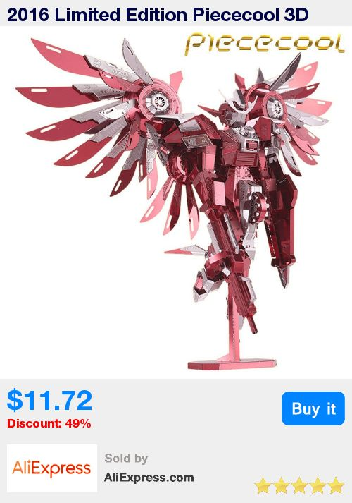2016 Limited Edition Piececool 3D Metal Puzzle Thundering Wings Gundam P069-RS DIY 3D Metal Puzzle Kits Laser Cut Jigsaw Toys * Pub Date: 04:34 Oct 21 2017