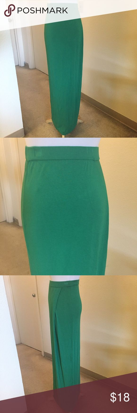 Armani Exchange Green Skirt Green long skirt from Armani Exchange which have been worn twice. Very sort material, 95% Rayon and 5% Spandex. Armani Exchange Skirts