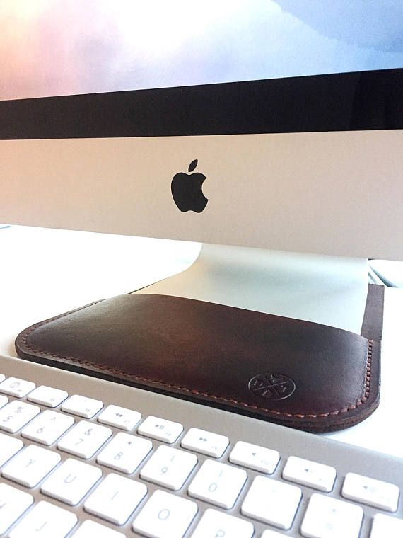 Leather iMac Screen Sleeve Desk Protector Worktop Saver