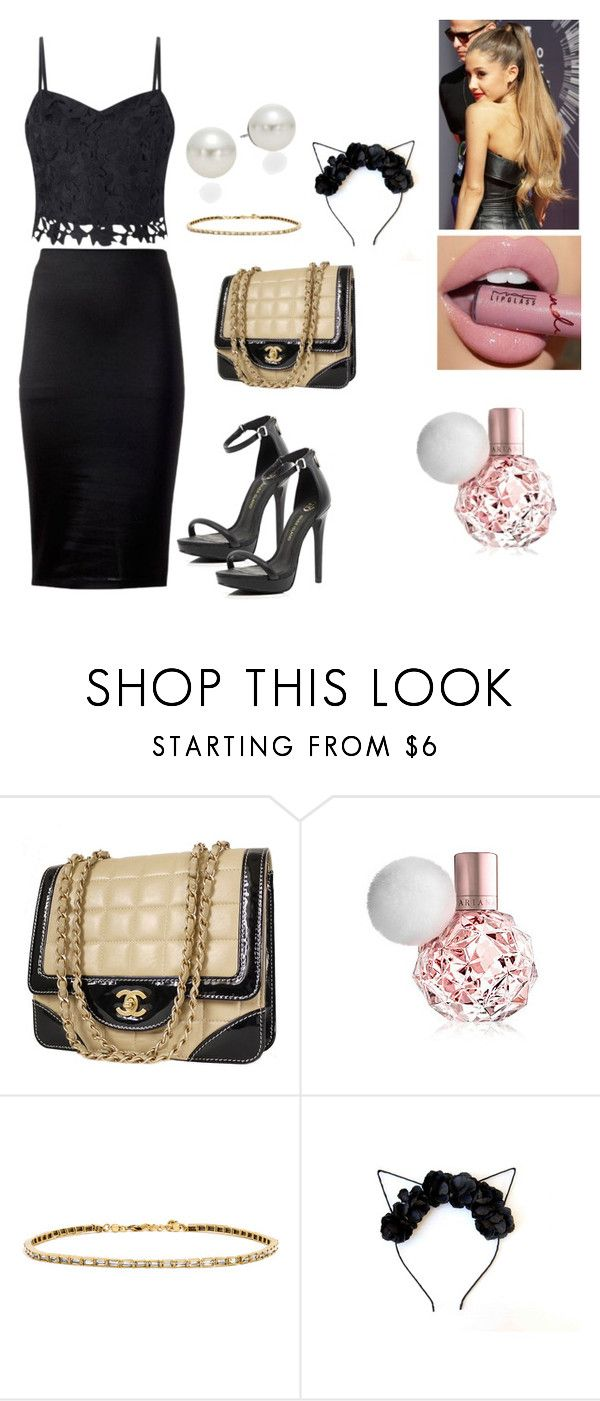 """""""Ariana Grande Inspiration"""" by brauerisabelle on Polyvore featuring Lipsy, Chanel, ARI, BaubleBar and AK Anne Klein"""