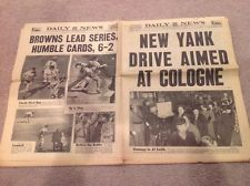 October 7 1944 WWII  NY Daily News newspaper WORLD SERIES COVER Browns Cardinals