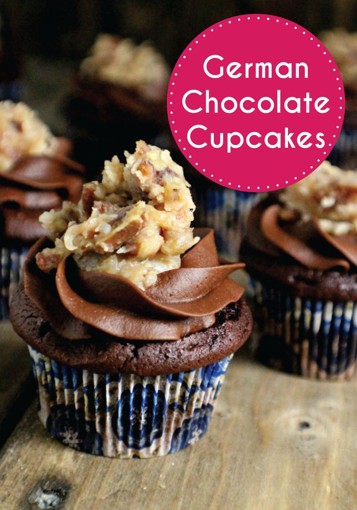 These German Chocolate Cupcakes with Coconut Pecan Topping are delicious, and the recipe is super easy to make! Use Cake Mate decorating tools to get the perfect icing swirl to really impress your family and friends.