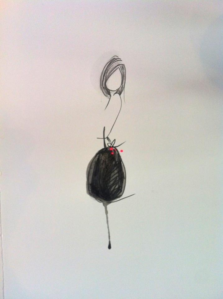 Nog een mooie van Ingrid van der Kamp! girl with bag | sketch