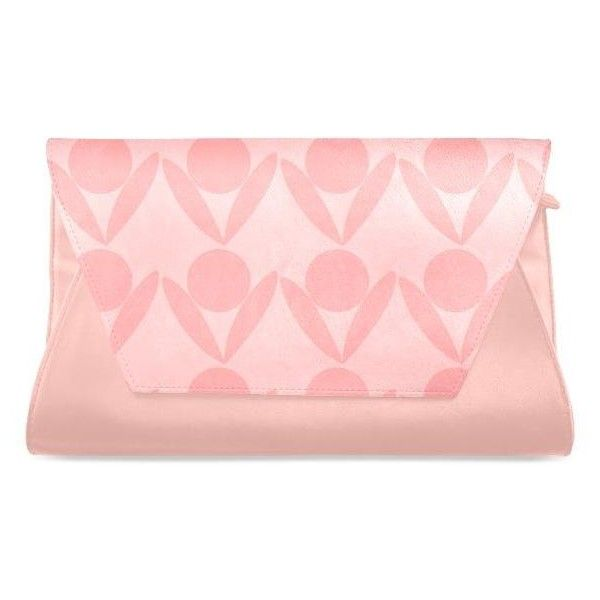 Peach Clutch Bag (Model 1630) Atelier Briella ($28) ❤ liked on Polyvore featuring bags, handbags, clutches, cocktail purse, special occasion handbags, evening clutches, pink purse and pink clutches