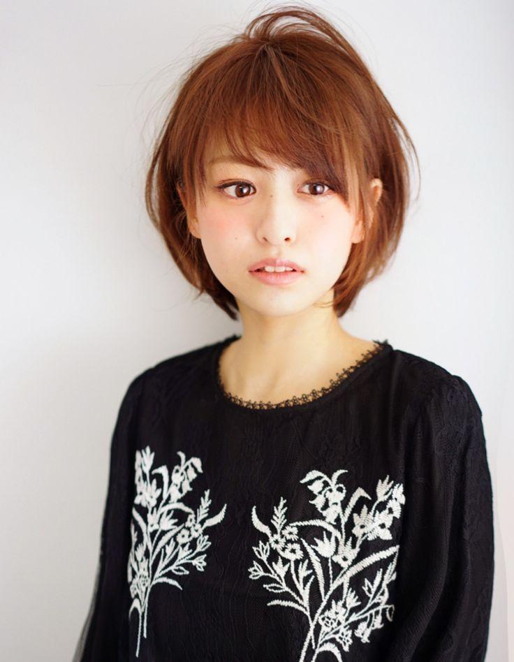 耳掛けショート(MO-377)   ヘアカタログ・髪型・ヘアスタイル AFLOAT(アフロート)表参道・銀座・名古屋の美容室・美容院