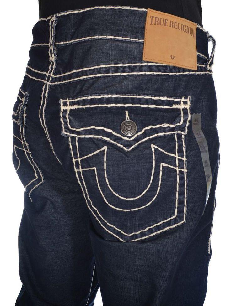 true religion mens jeans size 44 corduroy super t ricky midnight blue 298 midnight blue. Black Bedroom Furniture Sets. Home Design Ideas