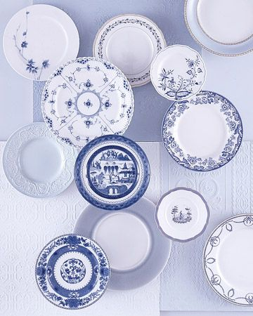 Registry List for the Classic Bride  Blue-and-White China: Blue-and-white china has long been something that comes to mind when we think of classic design. Here, 12 different patterns are mixed together. Separately, they are beautiful and refined; together, they are utter bliss.
