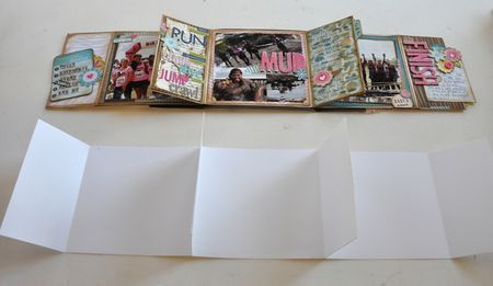 Mini Album - To make the book you will need one 12 x 6 piece of cardstock, three 12 x 5.75 pieces of cardstock, and two 5.5 x 5.5 pieces of cardstock.