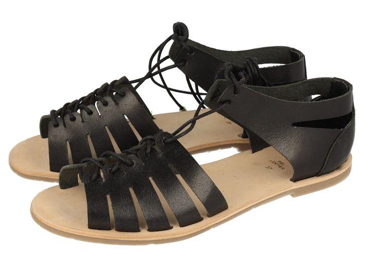 Sandalias de mujer negras de piel Savigny Giosseppo ss2016