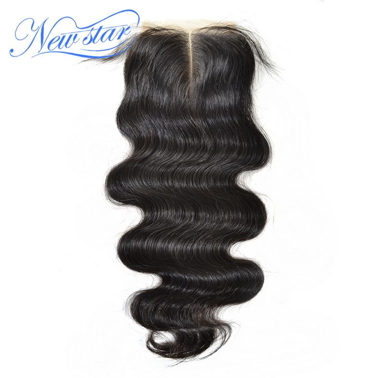 New Star Body Wave Brazilian Human Hair 4x4 Middle Part Closure Bleached Knots With Baby Hair Medium Brown Swiss Lace