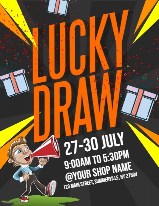 Lucky Draw Flyer | PosterMyWall | Event flyer templates
