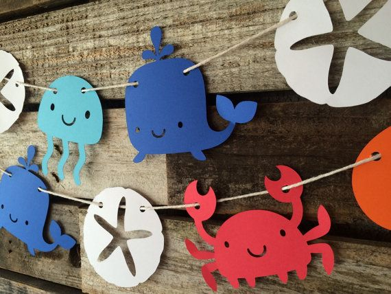 Under the Sea Party Garland Beach Party First by BlueOakCreations