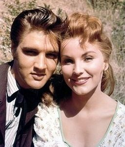 What a beautiful shot of Debra Paget and Elvis from Love Me Tender