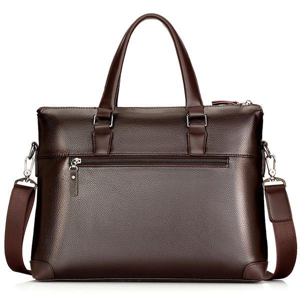 Men PU Leather Business Briefcase Laptop Bag Messenger Bag Handbag Work Bag - US$52.74