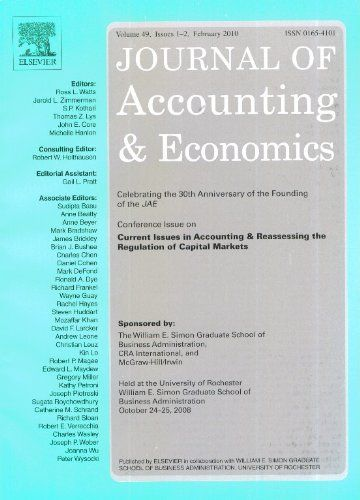 Публикации в журналах, наукометрической базы Scopus   Journal of Accounting and Economics #Accounting #Economics #Journals #публикация, #журнал, #публикациявжурнале #globalpublication #publication #статья