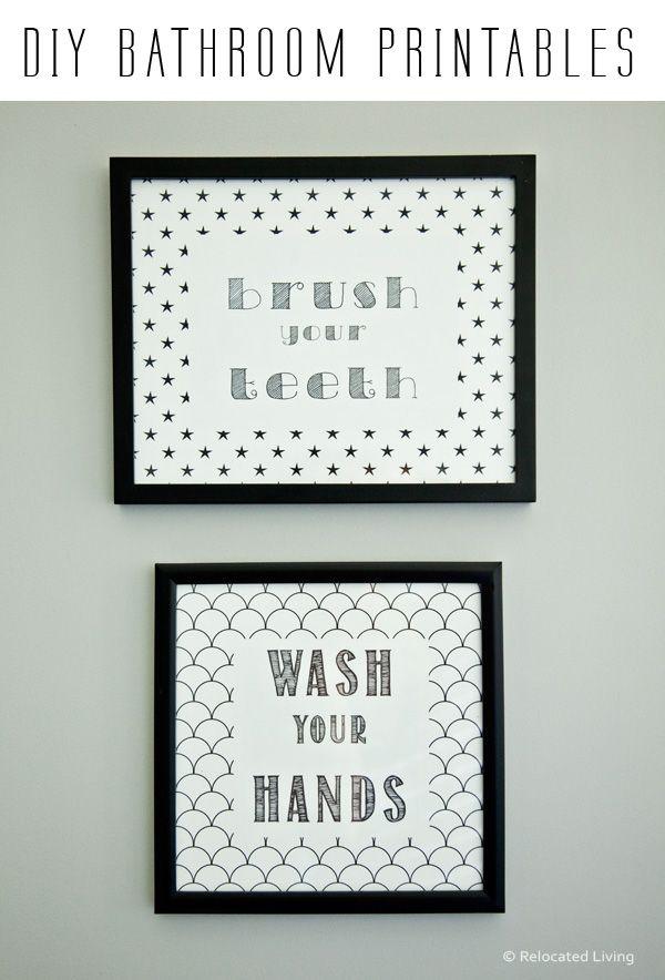 diy free chic modern bathroom printables - Free Printable Bathroom Art