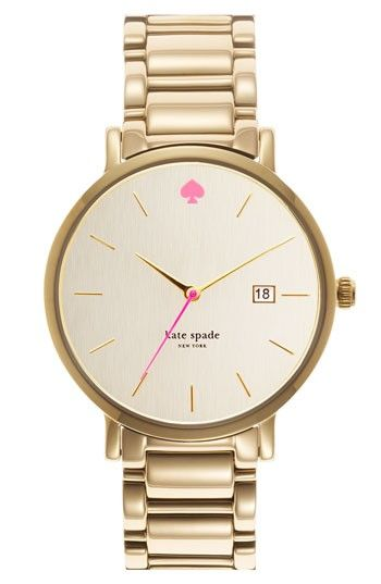 watch: Kate Spade So, Gold Kate, Kate Spade Want, Gold Watches, Katespade Watch, Gloriously Simple, Pink And Gold
