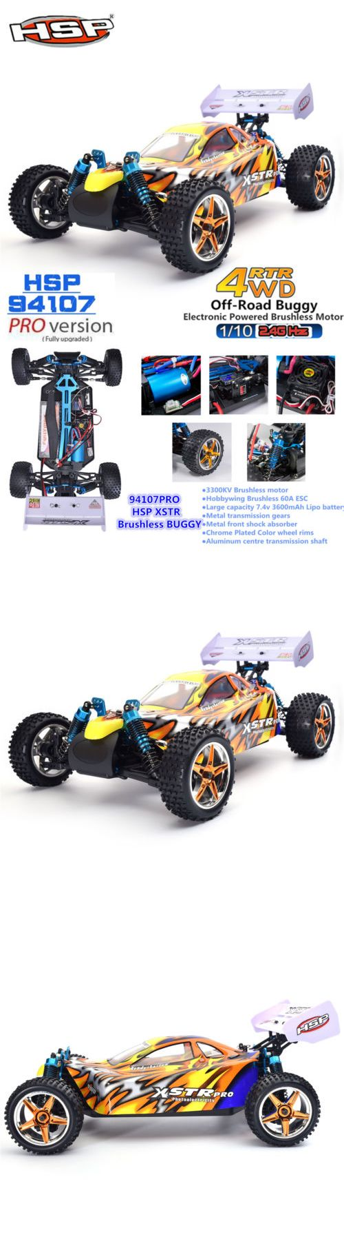 Cars trucks and motorcycles 182183 hsp 1 10 scale electric rc car rtr pro brushless