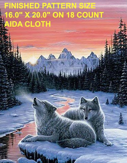 Twilight Song Wolf Cross Stitch Pattern LOOK I SEND WORLD WIDE PLEASE READ THE ENTIRE PAGE CAREFULLY BEFORE YOU BUY These Are Cross Stitch Patterns O