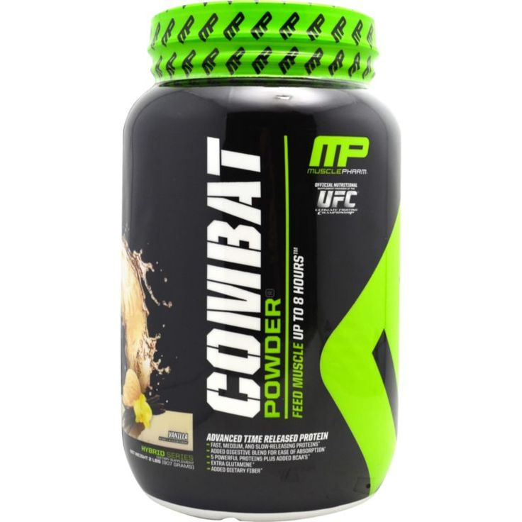 Muscle Pharm Combat Protein Powder Vanilla (White) 2 lbs
