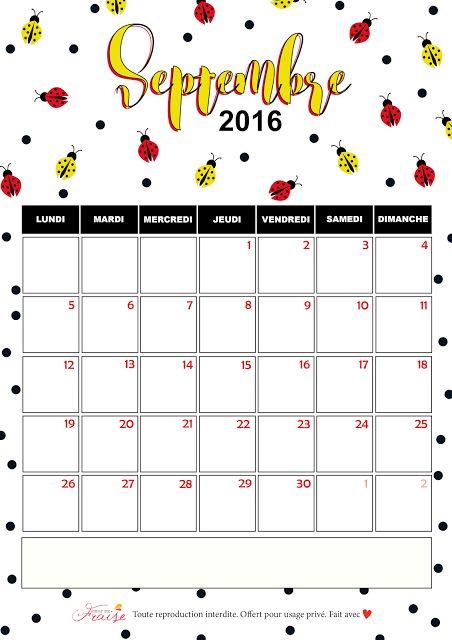 CALENDRIER DIY SEPTEMBRE 2016 (free printable)